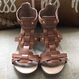 Franco Sarto Leather Sandals- Size 5